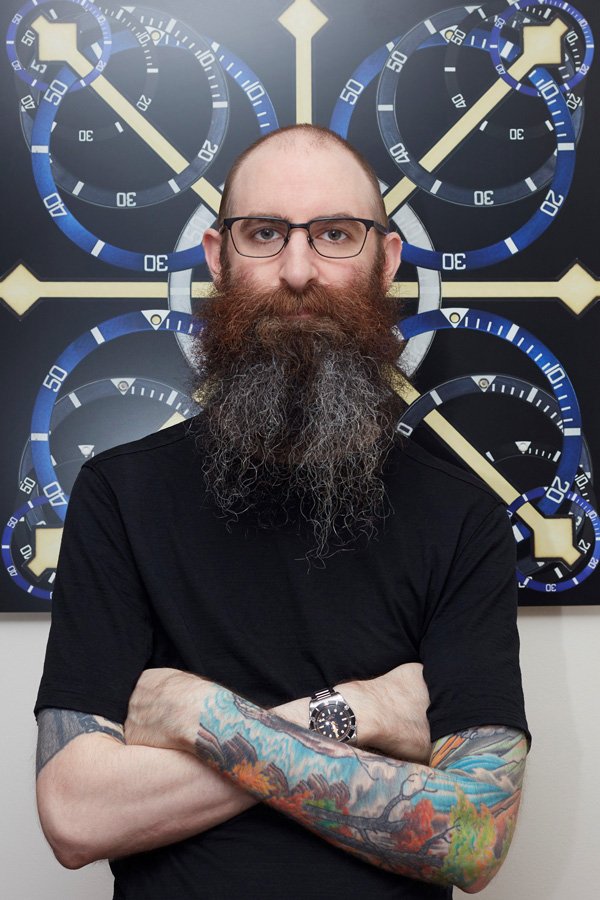 Artist and watch-enthusiast, Atom Moore